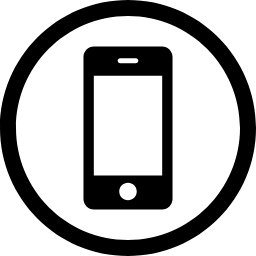 W3Schools  Contact Smartphone inside circle free icon 1