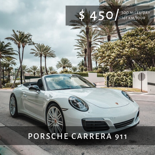 Locations de Voitures de Luxe PORSCHE CARRERA 911