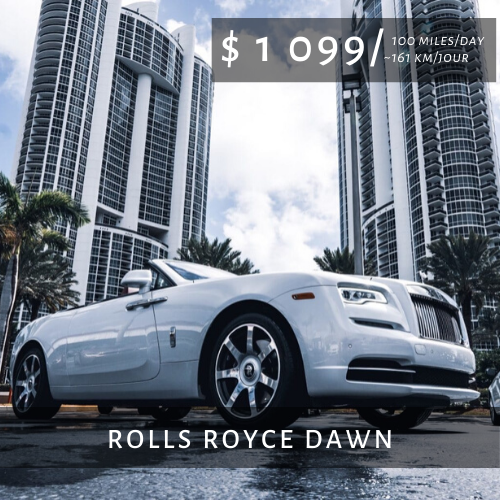 Locations de Voitures de Luxe ROLLS ROYCE DAWN