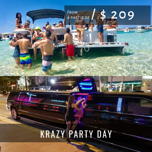 Nightclub Packages KRAZY PARTY DAY